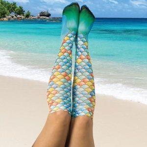 Mermaid tail knee high socks